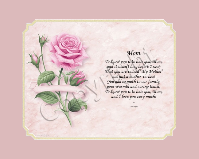 Mother 39 s day gift poem mother in law for Mother s day gift for mother in law